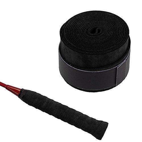 Griffband Tape Anti-Slip Overgrip für Tennis Badminton Squash Schläger Grip , 2 Stück (Schwarz)