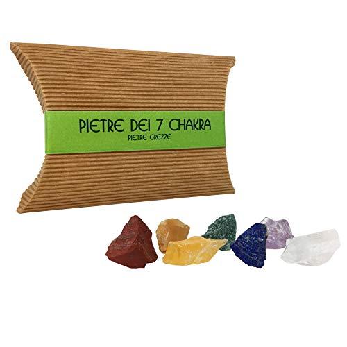 Pietre dei 7 chakra - pietre chakra e cristalli naturali per cristalloterapia - pietre curative ed energetiche - pietre grezze - riequilibrare i chakra