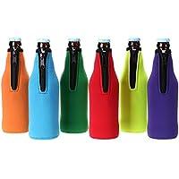 Enfriador Ignpion para botellas de cerveza, de neopreno suave, para fiestas o picnics (6unidades)