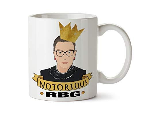 Notorious RBG Taza de café Ruth Bader Ginsburg regalo liberal feminista de la justicia de la igualdad política Corte Suprema Dissent WWRBGD resistente