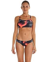 Speedo Alv Rlbk 2Pce Af, Conjunto de bikini, Mujer, Multicolor (Grigio Ossido/Charcoal), 32 (Talla del fabricante: 26)