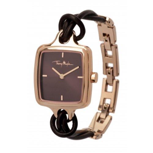 Thierry Mugler 4703103 - Reloj analógico de cuarzo para mujer con correa de piel, color marrón