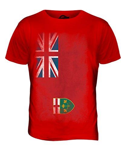 CandyMix Ontario Verblichen Flagge Herren T Shirt Rot