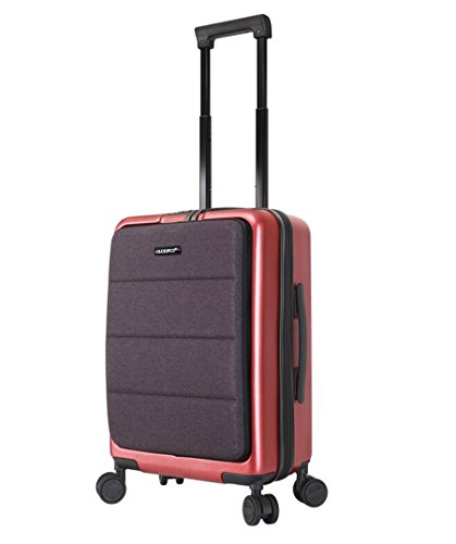 PINCHU Trolley Laptop Bag Business Wheeled Cabin Bolso de computadora clasificado Maletín Carry On Roller Cases, red, 20 inch