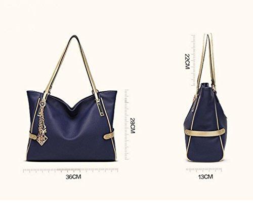 RAN Frau Europäische Und Amerikanische Art Und Weise Handtasche Schultertasche Mit Großer Kapazität Persönlichkeit Paket red