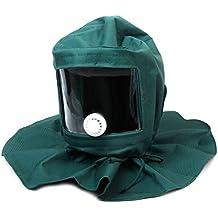 Casque Masque de Protection Anti-Vent Anti-poussière pour Sablage Sableuse 338cfaa68258