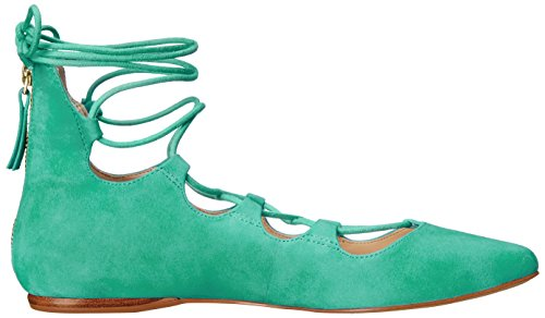 Nine West Signmeup Suede Ballet Flat Green Suede