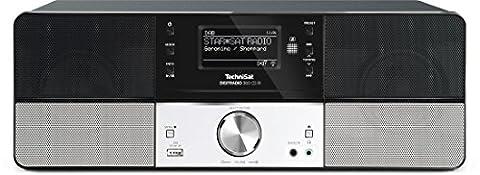 TechniSat Digitradio 360 CD IR (Stereo DAB+ Digitalradio, CD-Player, USB, Multiroom-Streaming, WLAN, UPnP Audio-Streaming, Wecker, Sleeptimer, Holzgehäuse, Aluminiumfront, 2x 5 Watt) schwarz/silber