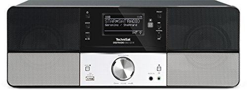 TechniSat Digitradio 360 CD IR Internetradio (Spotify, WLAN, LAN, DAB+, DAB, UKW, CD-Player, Multiroom, Radiowecker, Wifi Streamingfunktion, Multiroom, 2 x 5 Watt Lautsprecher) schwarz/silber