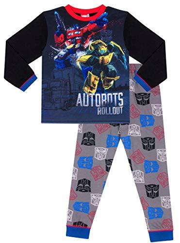 The Pyjama Factory Transformers Jungen Bumblebee Optimus Prime Schlafanzug (7-8 Jahre 128cm) (Transformers Schlafanzug Jungen)