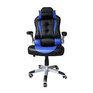 huigou HG® PU Racing Chair Silla De Oficina Comfort Executive Chair Silla Giratoria Naranja Altura Ajustable Capacidad…