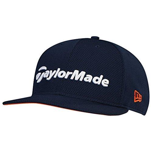 taylormade-2017-performance-new-era-tour-9fifty-flat-bill-hat-structured-mens-snapback-golf-cap-navy