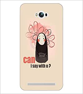 PrintDhaba Funny image D-5024 Back Case Cover for ASUS ZENFONE MAX ZC550KL (Multi-Coloured)