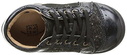 Noël Mini Bab, Chaussures Marche Bébé Fille Noir (100 Noir)