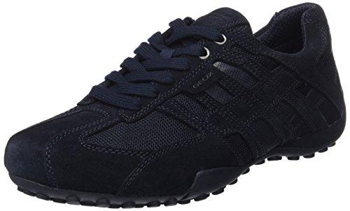 Geox Herren Uomo Snake E Sneaker, Blau (Navy), 46 EU (Snake Navy)