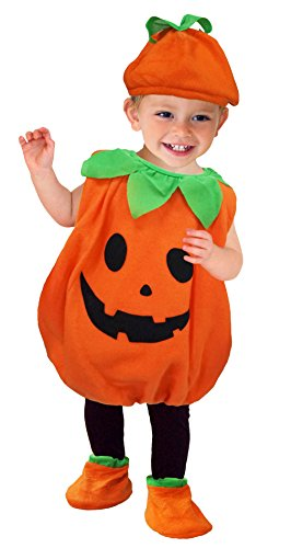 Für Kleinkind Niedliche Kostüm Jungen - Eozy Baby Kürbis Kostüm Kinder Halloween Karneval Fasching Kostüme mit Hut Cosplay L Körpergröße 80-90cm