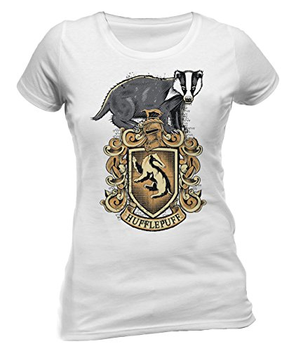 Official Licensed Merchandise Harry Potter Hufflepuff Womens Fitted T-Shirt Tee