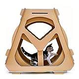 Enferpet Katze Laufband Riesenrad Haustier Katze liefert Wellpappe Katzenkratzbrett Riesenrad Katze Laufrad Gewichtsverlust Sport Unterhaltung Spielzeug,L