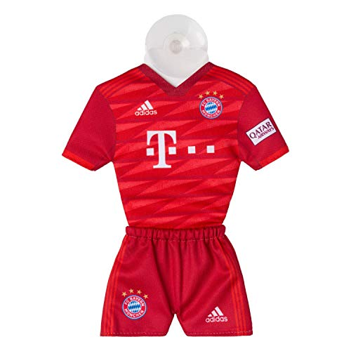 FC Bayern München Autotrikot 2019/20 Mini Kit, Trikot mit Saugnapf FCB - Plus Lesezeichen I Love München -