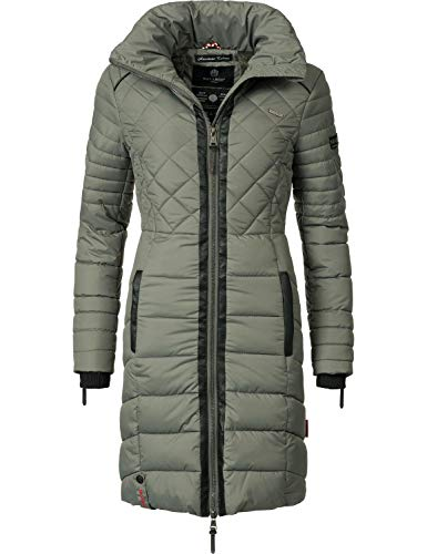 Navahoo Damen Winter-Mantel Steppmantel Ronin Grau Gr. L