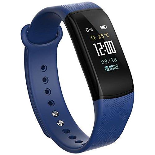Dynamic KALOAD B11 Smart Sports Pulsera Ritmo cardíaco Monitor de presión Arterial Impermeable Banda de muñeca - Azul