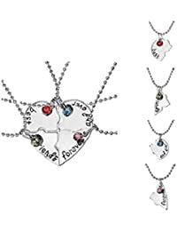 GirlZ! Stainless Steel Best Friend Forever And Ever Heart Shape Small Pendant Necklace With Chains For Men & Women...