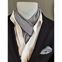 Exklusives Herren Set bestehend aus Schal und Einstecktuch in Grau