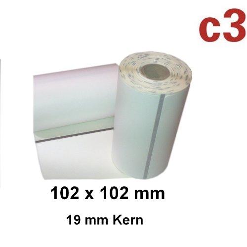 102x102mm ThermoEtiketten Zebra QL420, QL 420Plus, P4T und RP4T -