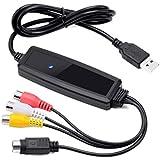 Easy-Link USB 2.0 Video Grabber Video Capture Karte (Free Driver) Videorecorder VHS Digitalisieren für Mac OS 10.6~10.12 / VHS auf DVD / RCA & S-Video auf USB