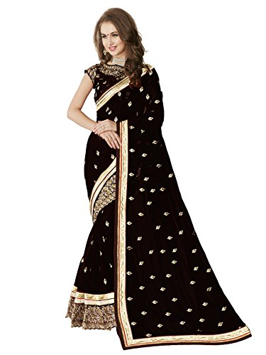 Glory Sarees Georgette Saree (Sukanya Black Saree_Black)
