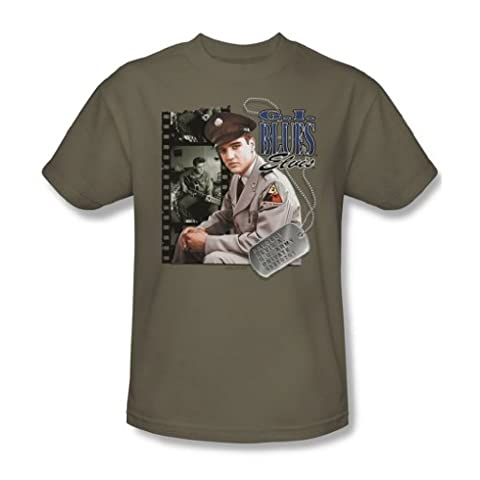 Elvis - G.I. Blues Adult T-Shirt In Safari Green, Medium, Safari Green