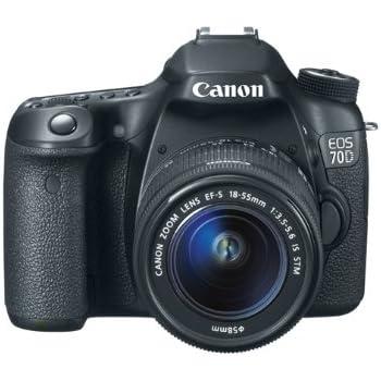 Canon EOS 70D SLR-Digitalkamera (20,2 Megapixel, 7,6 cm (3 Zoll) Display, Full HD, APS-C CMOS Sensor, WiFi, DIGIC 5+ Prozessor) Kit inkl. EF-S 18-55mm 1:3,5-5,6 IS STM Objektiv schwarz