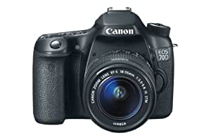 Canon EOS 70D SLR-Digitalkamera (20,2 Megapixel APS-C CMOS Sensor, 7,6 cm (3 Zoll) Display, Full HD, WiFi, DIGIC 5+ Prozessor) Kit inkl. EF-S 18-55mm 1:3,5-5,6 IS STM Objektiv schwarz