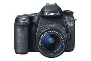 Canon EOS 70D SLR-Digitalkamera (20 Megapixel APS-C CMOS Sensor, 7,6 cm (3 Zoll) Display, Full HD, WiFi, DIGIC 5+ Prozessor) inkl. EF-S 18-55mm 1:3,5-5,6 IS STM Objektiv schwarz