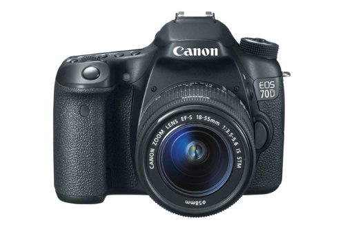 Canon EOS 70D SLR-Digitalkamera (20,2 Megapixel, 7,6 cm (3 Zoll) Display, Full HD, APS-C CMOS Sensor, WiFi, DIGIC 5+ Prozessor) Kit inkl. EF-S 18-55mm 1:3,5-5,6 IS STM Objektiv schwarz