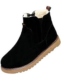 Dooxi Mujer Invierno Antideslizante Nieve Botas Casual Martin Botines Moda Calentar Forrado Zapatos
