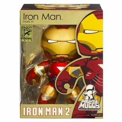 Mighty Muggs Hasbro Iron Man 2 Movie 2010 Sdcc San Diego Comiccon Exclusive Figure Iron Man