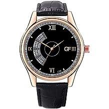 POJIETT Relojes Más Vendidos Hombre en Amazon Reloj Pulsera de Cuero de Cuarzo Reloj de Marca