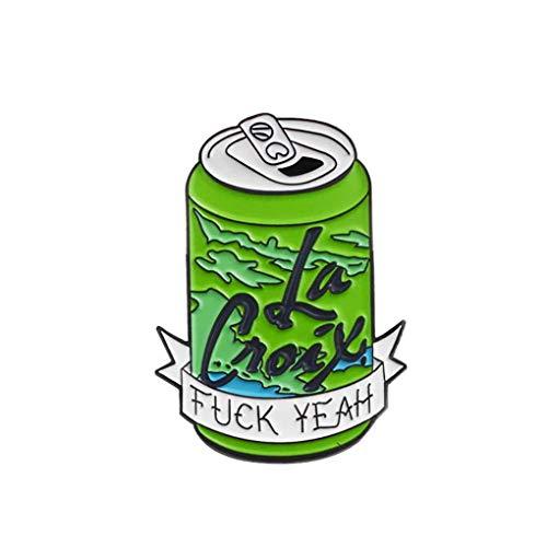 Lidahaotin Cartoon Can Brosche Legierung Trinkflasche Badge Dripping Öl Pin Kleidung Tasche Kostüm Schmuck Grün