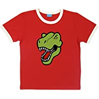 Paw Prints Organic Cotton Adults Dinosaur T-Shirt | 4 Sizes | 3 Colours | by