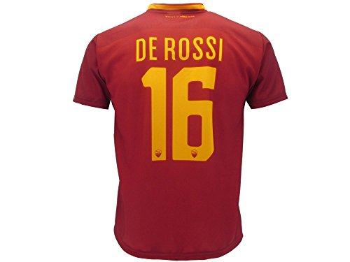 Fußballtrikot AS Roma, De Rossi, Rückennummer 16, offizieller Fanartikel, Saison 2017/2018, 12 Jahre