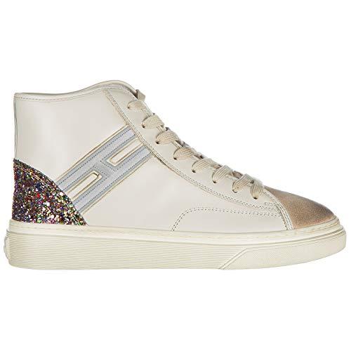Hogan scarpe sneakers alte donna in pelle nuove h342 bianco eu 38.5  hxw3420j240hsb0lm7 dfe07422bcc