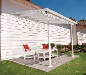 Chalet Jardin - Pergola PATIO aluminium 3x3m toit polycarbonate et gouttiere