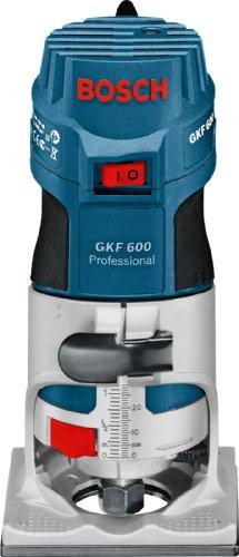 Bosch GKF 600 Professional Kantenfräse im Handwerkerkoffer mit 2 Spannzangen mit Überwurfmuttern (6 mm, 8mm), Gabelschlüssel 17 mm und Führungshilfe - 2