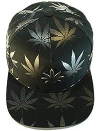4632d59eba1d6 Gorra Visera Plana. Gorro de Beisbol Hip Hop Trucker Snapback Casual Hombre  y Mujer Cannabis