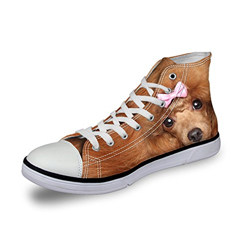 Coloranimal - A Collo Alto donna 3d dog pattern-3