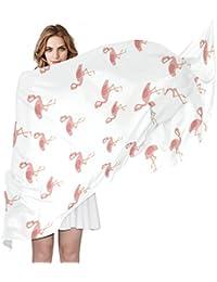 COOSUN Flamants roses Motif Foulard en soie légère longue écharpe pour les  femmes Enveloppe ... 6b47f9b6d41