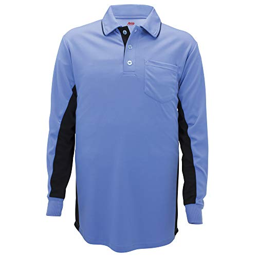 Adams Langarm Baseball und Softball Umpire Shirt, Powder Blue, Größe L -