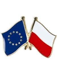 6a88222f13dbe Pin de Solapa Bandera de La Unión Europea y Bandera de Polonia