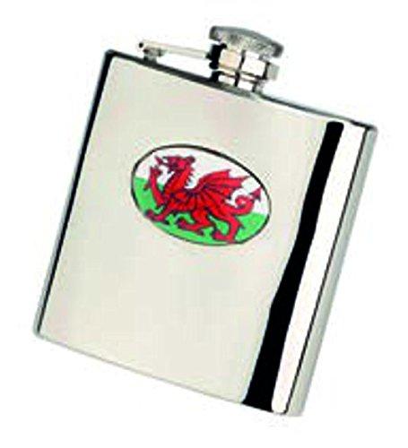 Walisische Flagge Flachmann